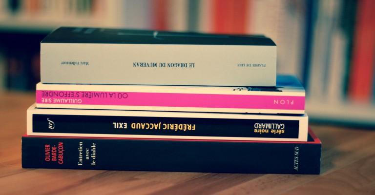 Livres achetés au festival Lausan'noir