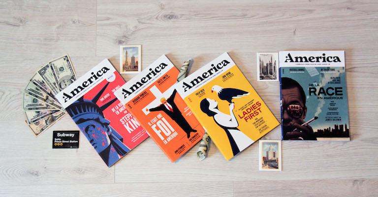 Numéros 4, 6, 7 et 8 de la revue America